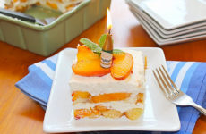 spiced peach tiramisu soaked with a ginger star anise syrup