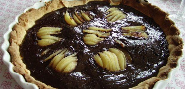 La recette de la tarte au chocolat et aux poires